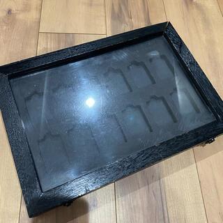 ジッポー(ZIPPO)の【ZIPPO】最大12個収納 観賞 コレクションケース 木製 ガラス 黒(タバコグッズ)