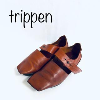 trippen - サイズ23.5〜24cm トリッペン AMIRA スクエアトゥ モカシン レザー