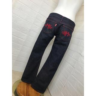 ヴィヴィアンタム(VIVIENNE TAM)のVIVIENN TAM  サイズ0 定番赤龍刺繍がが超絶カッコ良いデニム 美品 (デニム/ジーンズ)