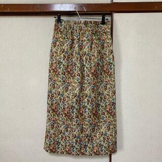 アンクルージュ(Ank Rouge)のゴブラン柄タイトスカート(ひざ丈スカート)