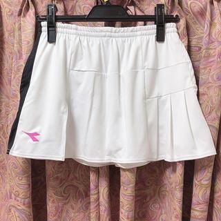 ディアドラ テニス スコート スカート 白 ホワイト グレー