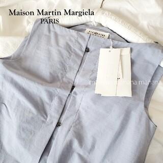 マルタンマルジェラ(Maison Martin Margiela)のメゾン マルタン マルジェラ コットン ノースリーブ ボートネック シャツ(シャツ/ブラウス(半袖/袖なし))