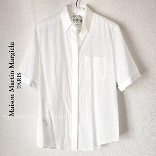 マルタンマルジェラ(Maison Martin Margiela)のメゾンマルタンマルジェラ コットン シアー 半袖 シャツ ブラウス(シャツ/ブラウス(半袖/袖なし))