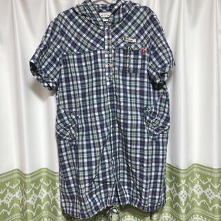 ドラッグストアーズ(drug store's)のD.S.CLUB チェック柄ロングシャツ(シャツ/ブラウス(半袖/袖なし))