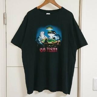 アンビル(Anvil)のアニマルプリント Tシャツ 古着 イルカ ペンギン等 ビッグシルエット(Tシャツ/カットソー(半袖/袖なし))