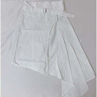 リルリリー(lilLilly)のlilLilly デニムスカート(ひざ丈スカート)