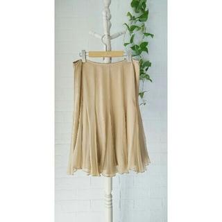 ラルフローレン(Ralph Lauren)の❤新品❤ラルフローレンのベージュシルクスカート(ひざ丈スカート)
