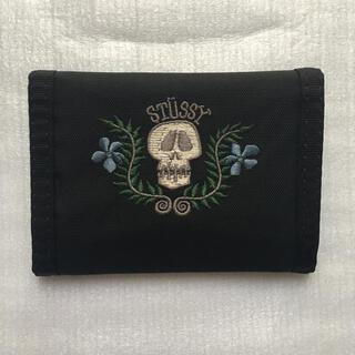 STUSSY - 美品 激レア 90's OLD STUSSY スカル ウォレット 財布 サイフ