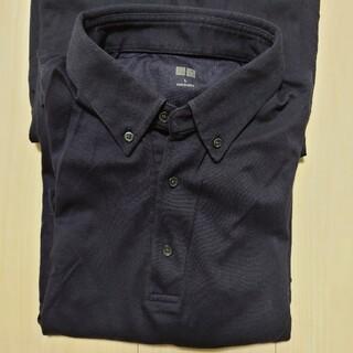 UNIQLO - ユニクロ エアリズムポロシャツ ネイビー 1枚①
