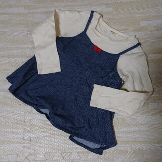 ムージョンジョン(mou jon jon)のMoujonjon 重ね着風 トップス 110cm(Tシャツ/カットソー)