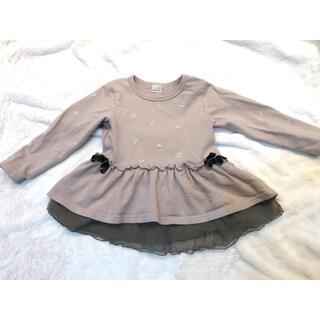 プティマイン(petit main)のプティマイン  さくらんぼ柄トップス(Tシャツ/カットソー)