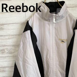 90s Reebok リーボック ナイロンジャケット 刺繍ロゴ メンズM 古着(ナイロンジャケット)