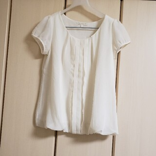 プロポーション(PROPORTION)のプロポーション ホワイト ブラウス きれいめ(シャツ/ブラウス(半袖/袖なし))