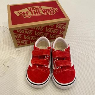 ヴァンズ(VANS)の試着のみ新品 vans バンズ 10.5センチ スニーカー 赤(スニーカー)