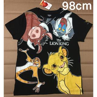 ディズニー(Disney)の日本未発売 ライオンキング 半袖Tシャツ 黒 98cm(Tシャツ/カットソー)