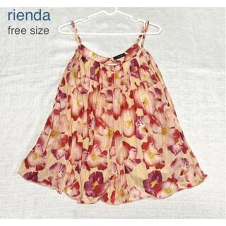 rienda - ❤️期間限定セール❤️rienda 花柄プリーツ キャミ チュニック