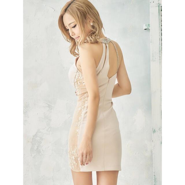 AngelR(エンジェルアール)の【Angel R/エンジェルアール】 デコルテビジュー/サイドレース/ミニドレス レディースのフォーマル/ドレス(ミニドレス)の商品写真