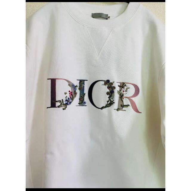 Dior(ディオール)の21SS【新品】DIOR ディオール FLOWERS ロゴ スウェット L メンズのトップス(スウェット)の商品写真