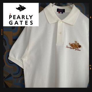 パーリーゲイツ(PEARLY GATES)のパーリーゲイツ PEARLY GATES 半袖ポロシャツ 白 ホワイト ゴルフ(ポロシャツ)