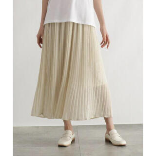 オゾック(OZOC)の新品 オゾック シアー プリーツ スカート(ロングスカート)