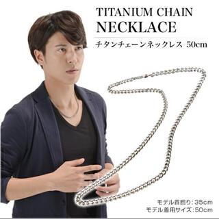 定価19800円 ファイテン チタンチェーンネックレス 50cm(ネックレス)