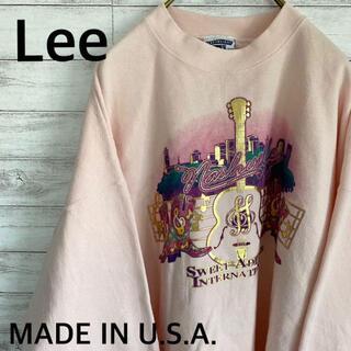 アイスクリーム(EYESCREAM)のUSA製 リー Lee スウェット トレーナー メンズ2XL 薄ピンク 古着(スウェット)