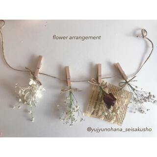 薔薇とかすみ草のスワッグガーランド ドライ お花のあるくらし(ドライフラワー)