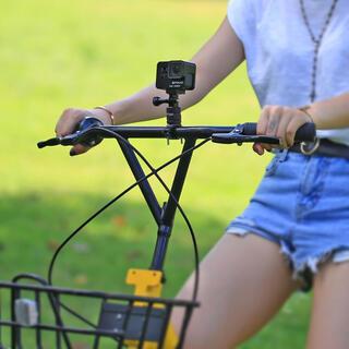 GoPro対応 六角レンチ付きアルミ削り出し 自転車・バイク用ハンドルバー 回転