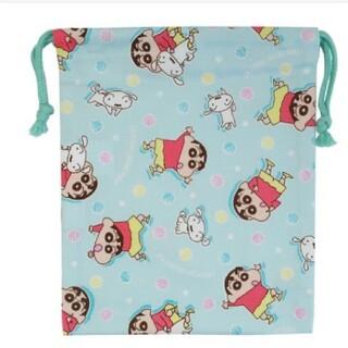 バンダイ(BANDAI)の新品 クレヨンしんちゃん巾着袋Mサイズ(ランチボックス巾着)