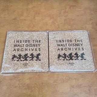 ディズニー(Disney)のウォルトディズニー展 ミッキーマウス コルク コースター(テーブル用品)