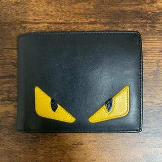 フェンディ(FENDI)の【フェンディ FENDI】二つ折り財布 折りたたみ財布 バグズ モンスター 黒(折り財布)