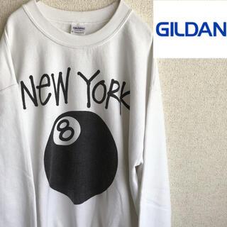 GILDAN - 90s GILDAN 8BALL プリント スウェット トレーナー ギルダン M