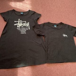 ステューシー(STUSSY)のstussy ワンピース&Tシャツ セット(Tシャツ/カットソー)