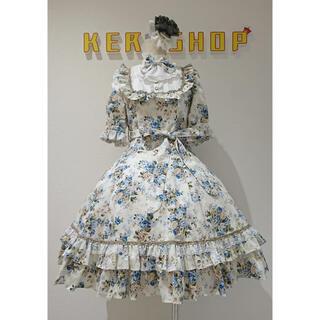 ヴィクトリアンメイデン(Victorian maiden)のクラシカルドールパフスリーブドレス ロココブルー(ひざ丈ワンピース)