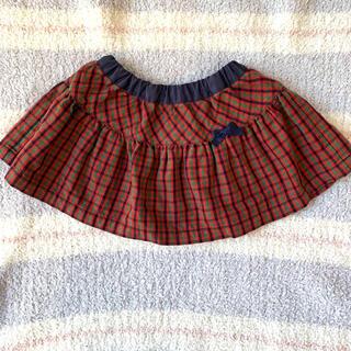 ファミリア(familiar)のファミリアチェック リバーシブルスカート80センチ(スカート)