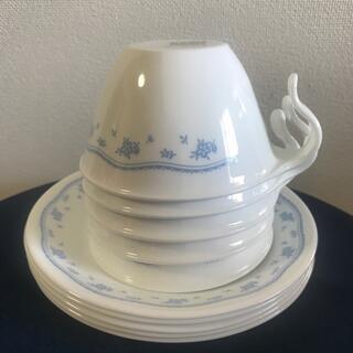 コレール(CORELLE)のコレール カップ&ソーサー5客 モーニングブルー(食器)