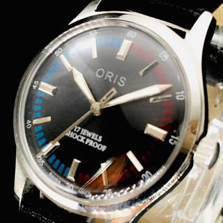 オリス(ORIS)の渋い【オリス ORIS】腕時計/メンズ/ブラック/黒/機械式手巻き/ビンテージ(腕時計(アナログ))