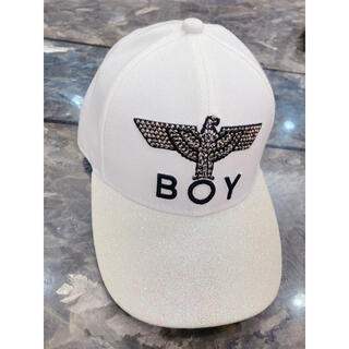 ボーイロンドン(Boy London)のBOY LONDON (ホワイト) ラメ キャップ 帽子(キャップ)