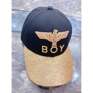 ボーイロンドン(Boy London)のBOY LONDON (ブラック×ゴールド) ラメ キャップ 帽子(キャップ)