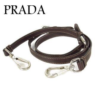 プラダ(PRADA)のプラダ PRADA ロゴ レザー 肩掛け ショルダー ストラップ ブラウン(その他)