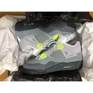Nike Air Jordan 4 Retro SE neon28cm【最安値】(スニーカー)