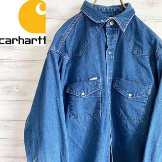 carhartt - 【人気】カーハート Carhartt ウエスタンデニムシャツ 古着