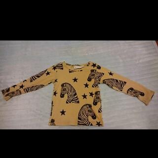 コドモビームス(こども ビームス)のミニロディーニmini rodini80/86シマウマ柄 Tシャツ ロンT (Tシャツ)
