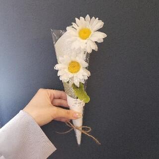 韓国 マーガレット 花束 エレガント ブーケ(ドライフラワー)