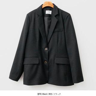 スタイルナンダ(STYLENANDA)の韓国 ENVYLOOK テーラードジャケット ブラック(テーラードジャケット)