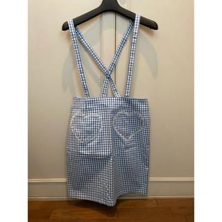 キャンディーストリッパー(Candy Stripper)のCANDY STRIPPER ギンガムチェック ハートポケット スカート(ひざ丈スカート)