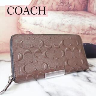 ウェンディズアンドフットザコーチャー(Wendy's & foot the coacher)のs170 美品 COACH コーチ 長財布 シグネチャー ラウンドファスナー(財布)