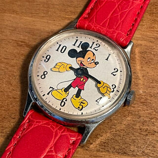 ディズニー(Disney)のINGERSOLL BY US TIME ミッキーマウス ヴィンテージ ウォッチ(腕時計(アナログ))