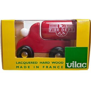 ヴィラック(vilac)のフランス木製玩具 Vilac (ヴィラック) ミニカー 消防車(電車のおもちゃ/車)