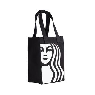 スターバックスコーヒー(Starbucks Coffee)の台湾限定!!スターバックス 台湾 スタバ ドリンクホルダートートバッグ 黒 女神(トートバッグ)